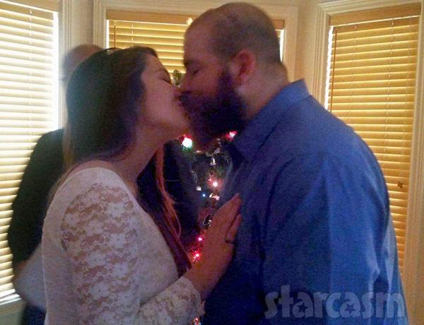 Lekota and Matt McCann wedding kiss