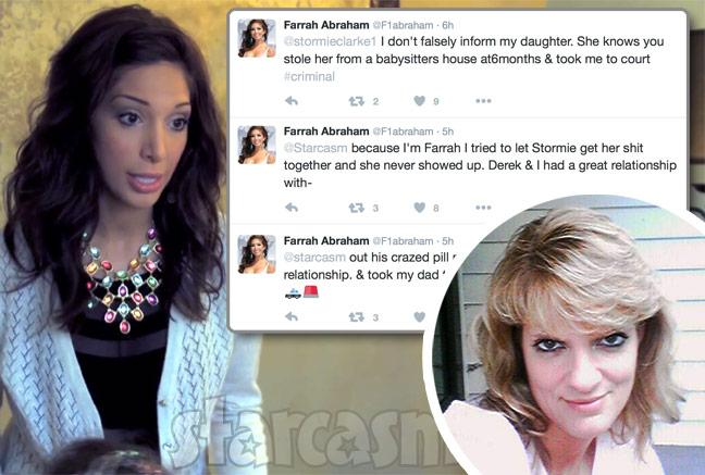 Farrah Abraham Stormie Clark feud