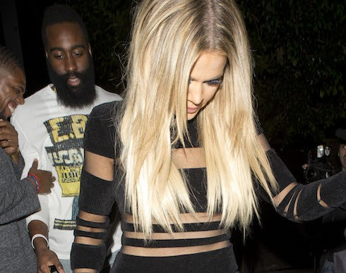 The Kardashianand jenner can be seen all leaving Kylie Jenners 18th birthday at 'The Nice Guy' in West Hollywood, CA. Khloe can be seen with her rumored new boyfriend Basket baller james Harden Pictured: James Harden, Khloe Kardashian Ref: SPL1098654  090815   Picture by: SPW / Splash News Splash News and Pictures Los Angeles:	310-821-2666 New York:	212-619-2666 London:	870-934-2666 photodesk@splashnews.com