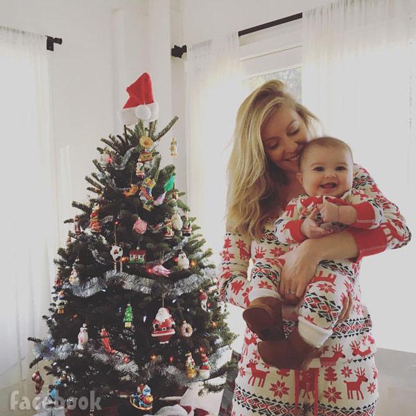 Leah Jenner daughter Eva Christmas 2015