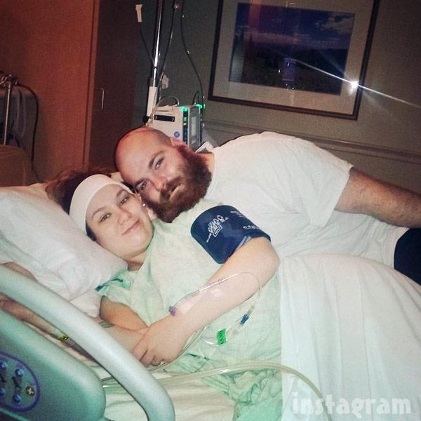 Lekota and Matthew McCann before birth of their son Matty