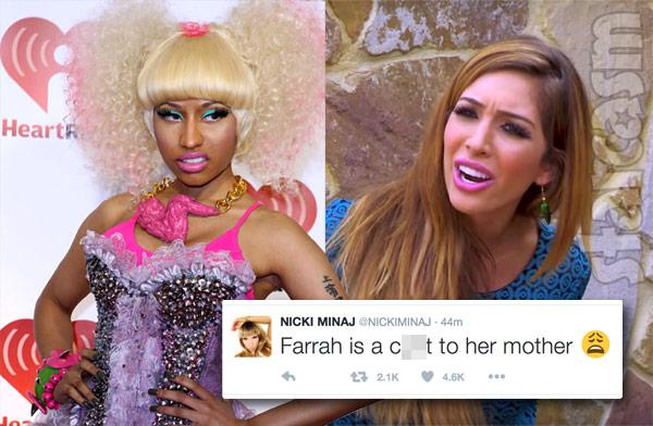 Nicki Minaj Farrah Abraham twitter feud