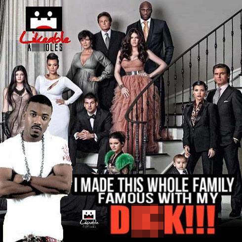Ray J Kardashian family photo meme