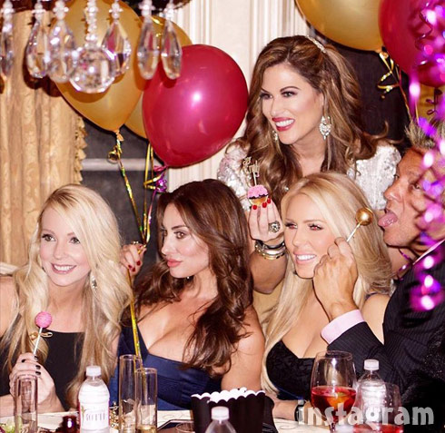 Sarah Rodriguez Lizzie Rovsek Gretchen Rossi party photo