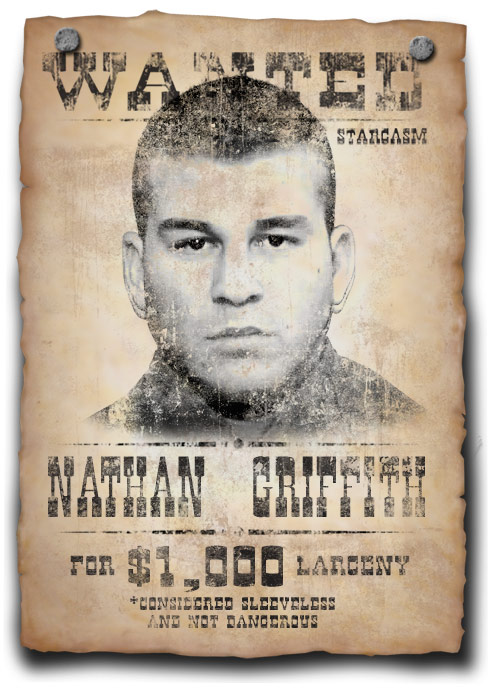 Nathan Griffith wanted poster