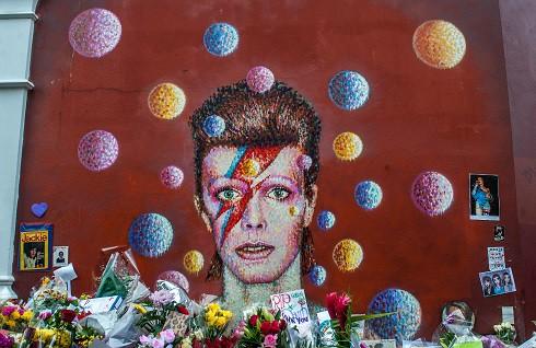 David Bowie mural memorial in London