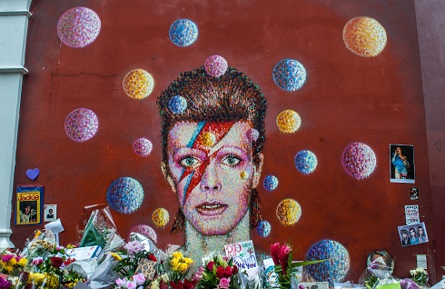 David Bowie mural memorial in London