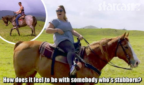 Catelynn and Tyler horseback in Hawaii