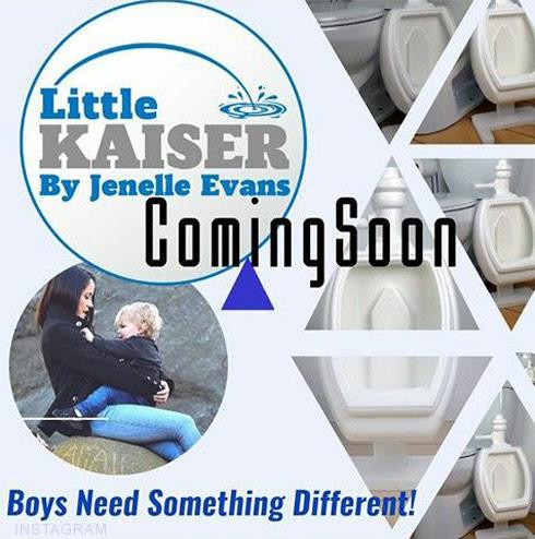 Jenelle Evans Little Kaiser potty training urinal