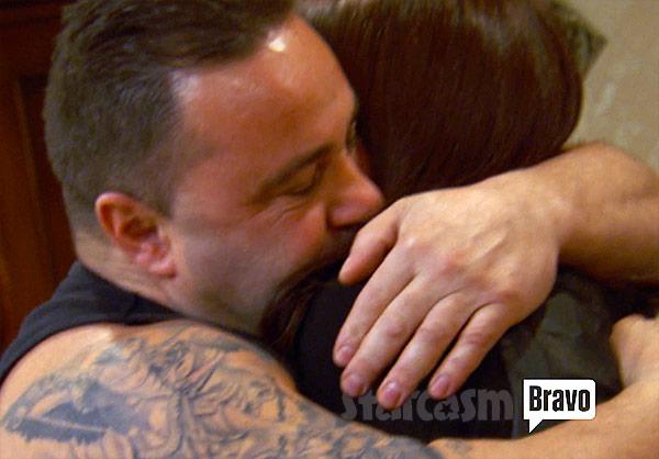 Joe Giudice Teresa hug after she gets out of prison