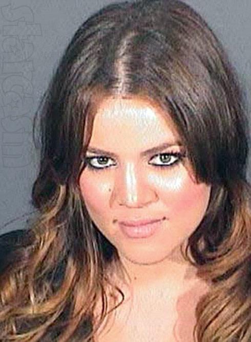 Khloe Kardashian mug shot DUI arrest