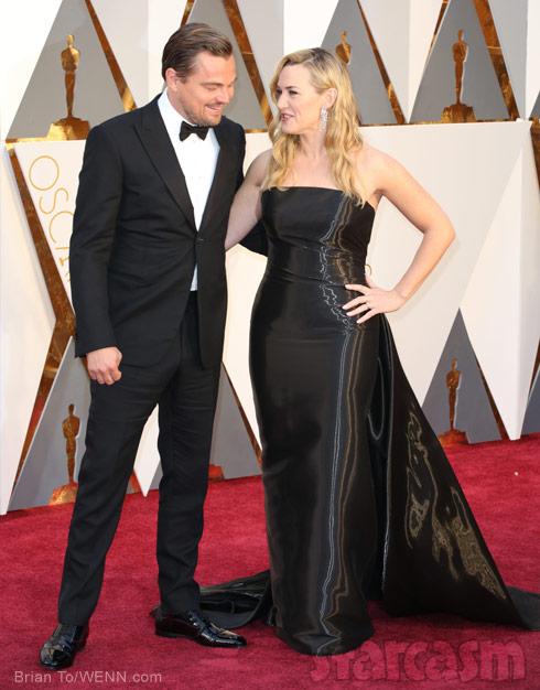 Leonardo DiCaprio Kate Winslet together Oscars 2016