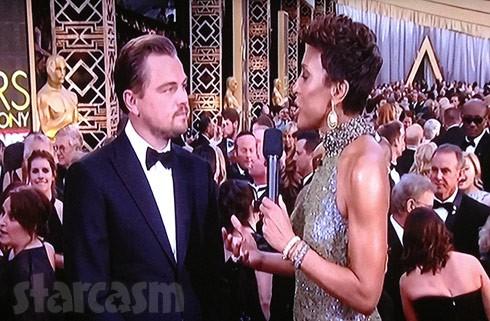 Leonardo DiCaprio Oscars red carpet interview 2016