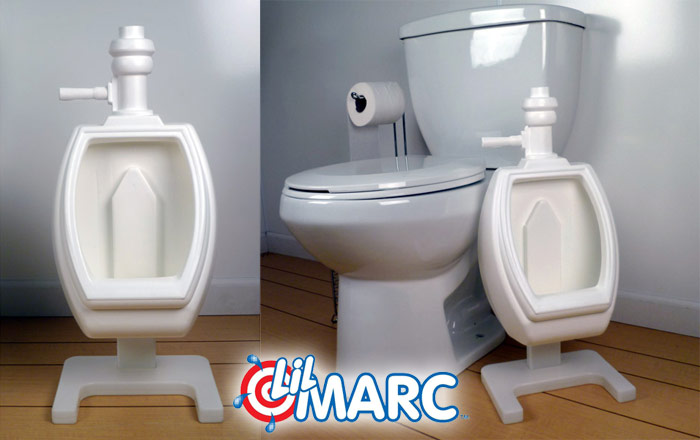 Lil Marc potty training urinal