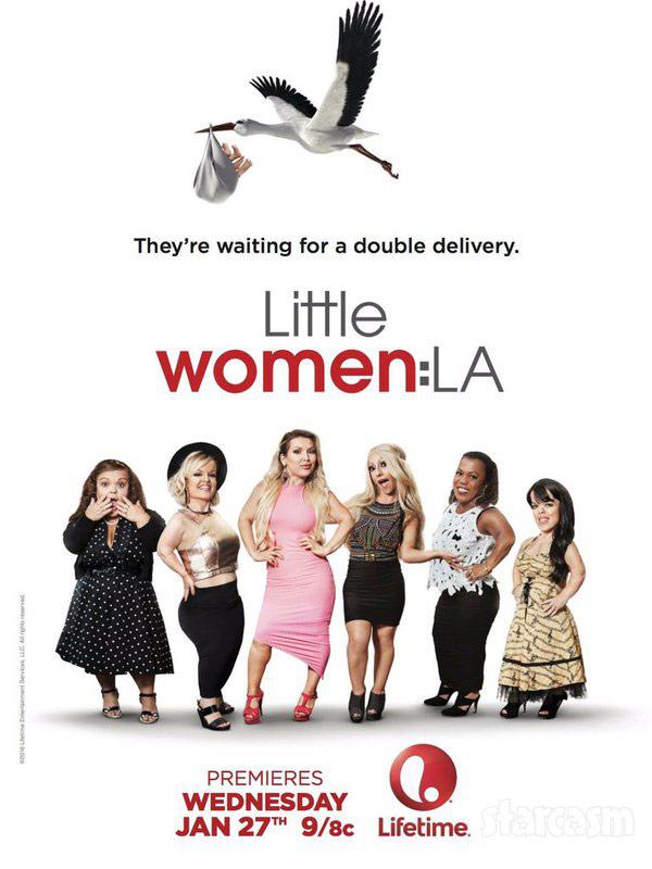 Little Women LA Double Delivery pregnancy stork poster