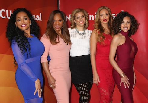 2016 NBCUniversal Press Tour at The Langham Huntington Hotel & Spa - Arrivals Featuring: Real Housewives of Potomac, Karen Huger, Charrisse Jackson Jordan, Robyn DIxon, Gizelle Bryant, Ashley Derby Where: Pasadena, California, United States When: 13 Jan 2016 Credit: Nicky Nelson/WENN.com