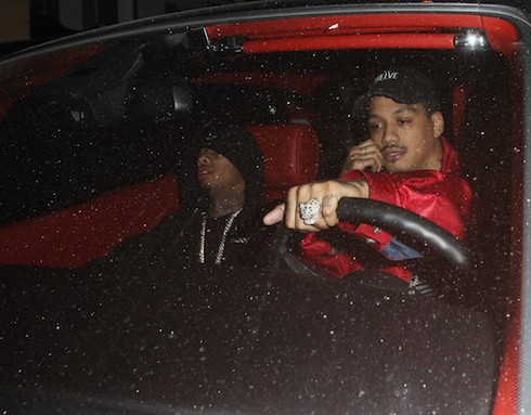 Tyga Sleeps On The Passenger Side Of His Car As He Leaves 1 Oak Nightclub in West Hollywood Pictured: Tyga Ref: SPL1220146 030216 Picture by: Photographer Group / Splash News Splash News and Pictures Los Angeles: 310-821-2666 New York: 212-619-2666 London: 870-934-2666 photodesk@splashnews.com