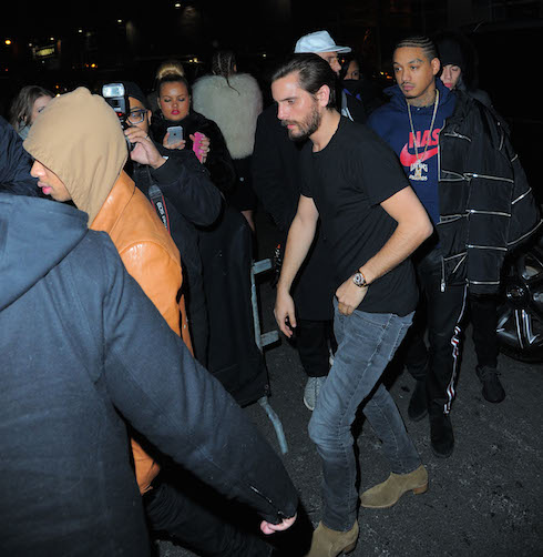 Rihanna, Tyga, Scott Disick and Kylie Jenner party together at Up and Down nightclub in New York Pictured: Scott Disick Ref: SPL1226229  130216   Picture by: Splash News Splash News and Pictures Los Angeles:	310-821-2666 New York:	212-619-2666 London:	870-934-2666 photodesk@splashnews.com