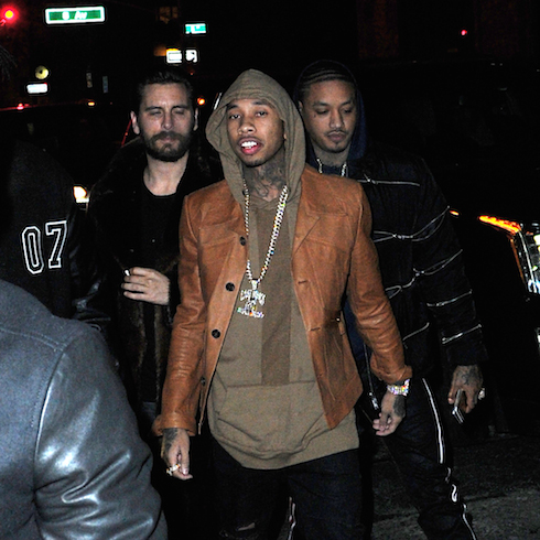 Rihanna, Tyga, Scott Disick and Kylie Jenner party together at Up and Down nightclub in New York Pictured: Tyga, Scott Disick, Ref: SPL1226229  130216   Picture by: Splash News Splash News and Pictures Los Angeles:	310-821-2666 New York:	212-619-2666 London:	870-934-2666 photodesk@splashnews.com