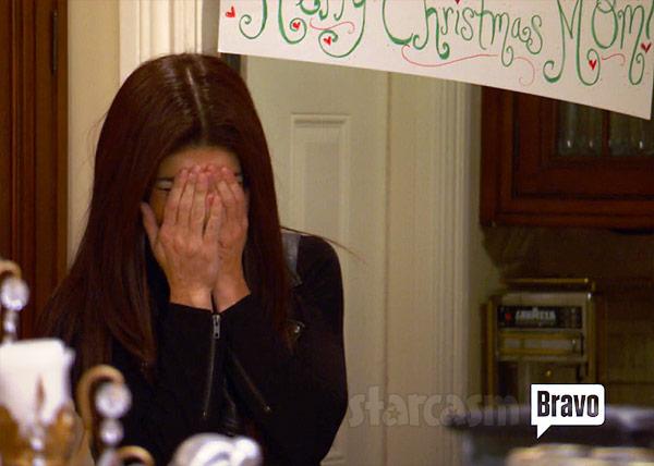 Teresa Giudice crying returns home