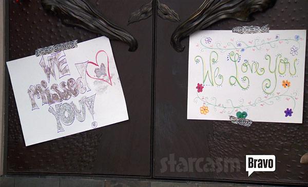 Teresa Giudice welcome home signs