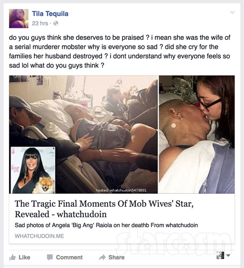 Tila Tequila Big Ang Facebook post