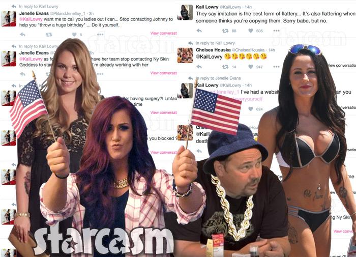 Chelsea Houska Kailyn Lowry Jenelle Evans Randy Houska Twitter feud