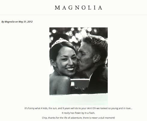 Chip and Joanna Gaines wedding photo 2