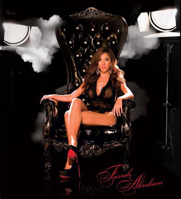 Farrah Abraham chair furniture store