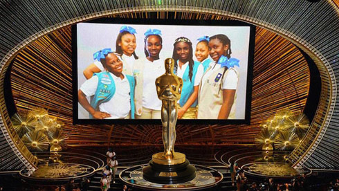 Girl Scouts cookies Oscars Chris Brown