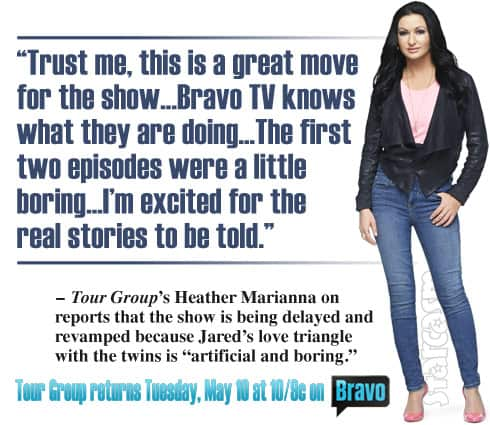 Heather Marianna Tour Group quote about show delay