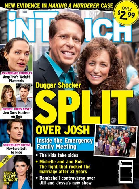 In Touch Jim Bob Michelle Duggar divorce split cover