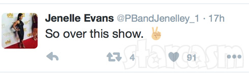 Jenelle Evans so over this show tweet