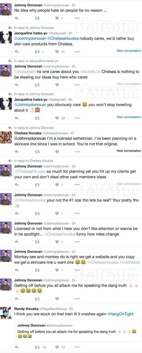 Johnny Donovan Chelsea Houska tweets with Randy Houska