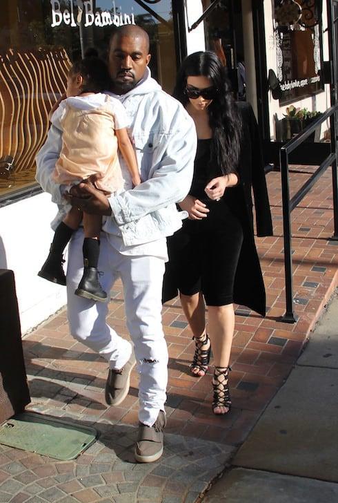 Kim Kardashian and Kanye West shopping at luxury baby boutique Bel Bambini Featuring: Kim Kardashian, Kanye West, North West Where: Beverly Hills, California, United States When: 21 Feb 2016 Credit: WENN.com