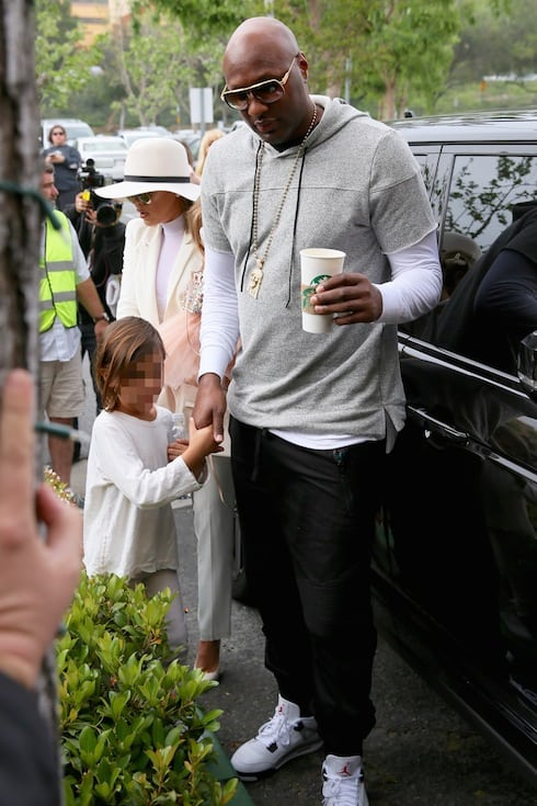 The Kardashian Family and Lamar Odom attend the Easter Sunday service at California Community Church Featuring: Khloe Kardashian, Lamar Odom, Mason Disick Where: Los Angeles, California, United States When: 27 Mar 2016 Credit: Michael Wright/WENN.com