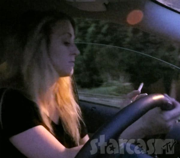Leah Messer smoking while driving