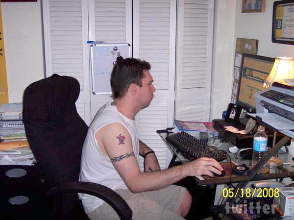 Old photo of Amber Portwood's fiance Matt Baier 2008