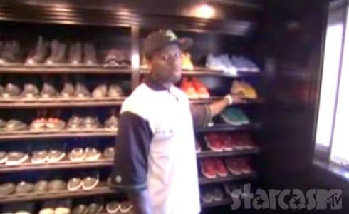 50 Cent MTV Cribs shoe room