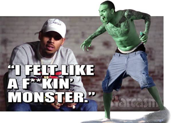 Chris Brown monster quote from Welcome To My Life