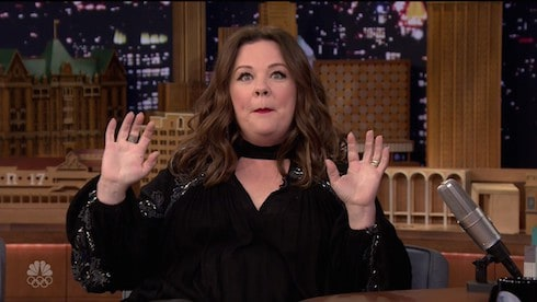 Melissa McCarthy during an appearance on NBC's 'The Tonight Show Starring Jimmy Fallon.' Melissa promotes the movie 'The Boss.' Featuring: Melissa McCarthy Where: United States When: 05 Apr 2016 Credit: Supplied by WENN.com **WENN does not claim any ownership including but not limited to Copyright, License in attached material. Fees charged by WENN are for WENN's services only, do not, nor are they intended to, convey to the user any ownership of Copyright, License in material. By publishing this material you expressly agree to indemnify, to hold WENN, its directors, shareholders, employees harmless from any loss, claims, damages, demands, expenses (including legal fees), any causes of action, allegation against WENN arising out of, connected in any way with publication of the material.**