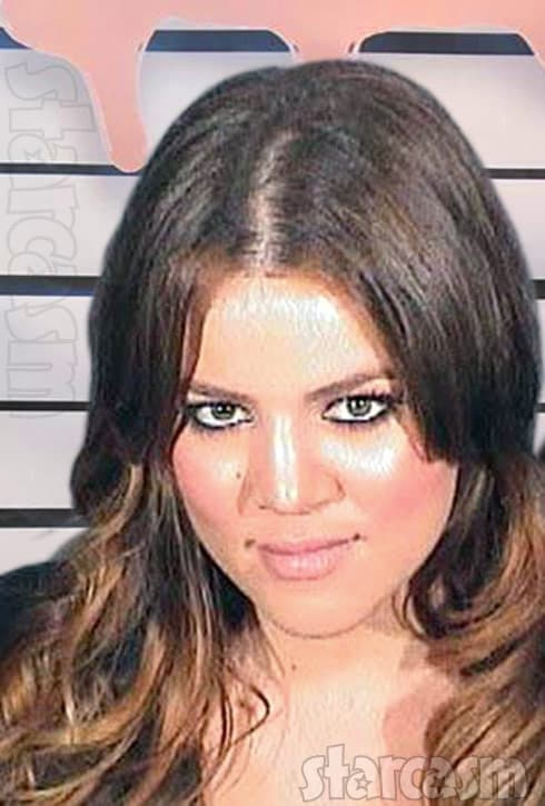 Khloe Kardashian mug shot Kylie lip gloss