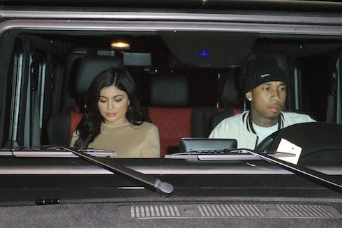 Kylie Jenner and Tyga leave Il Cielo in Beverly Hills Pictured: Kylie Jenner, Tyga Ref: SPL1253606 280316 Picture by: LA Photo Lab / Splash News Splash News and Pictures Los Angeles: 310-821-2666 New York: 212-619-2666 London: 870-934-2666 photodesk@splashnews.com