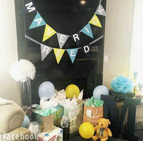 Maci Bookout baby shower baby name reveal for son Maverick Reed