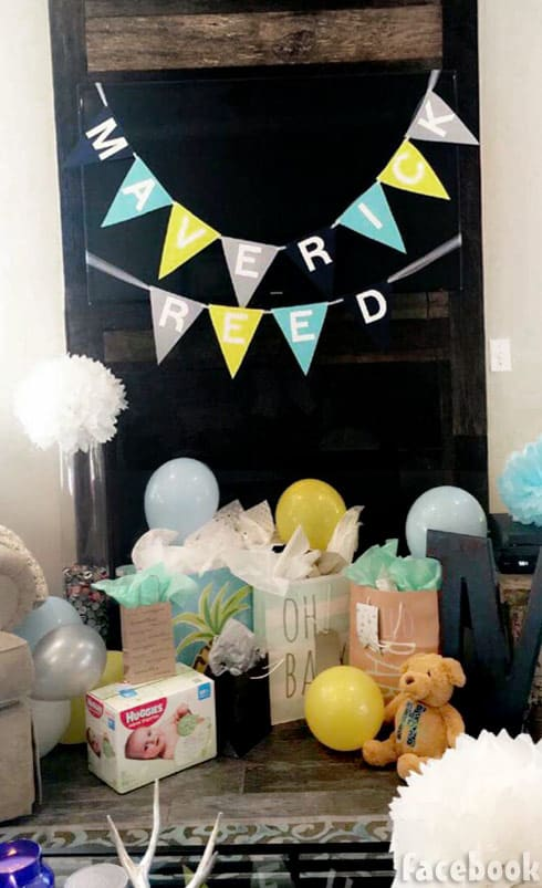 Maci Bookout third baby shower name reveal Maverick Reed