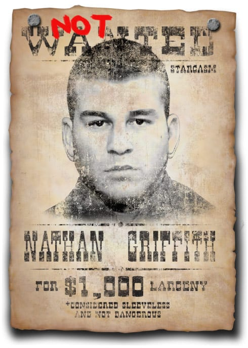 Not Wanted Poster Nathan Griffith