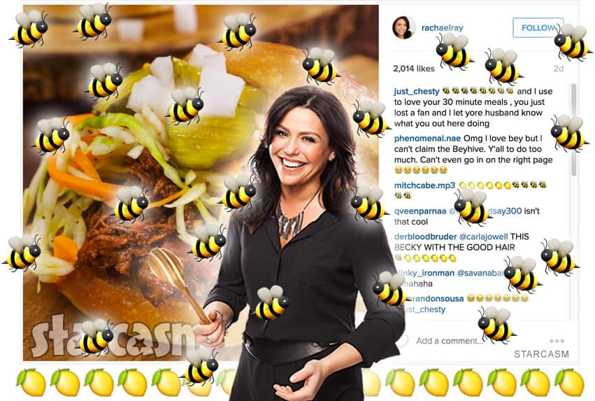 Rachael Ray Beyhive Instagram photo Becky with the good hair Rachel Roy mix up