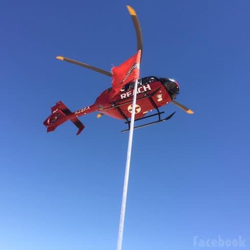 Vicki Gunvalson rescue helicopter