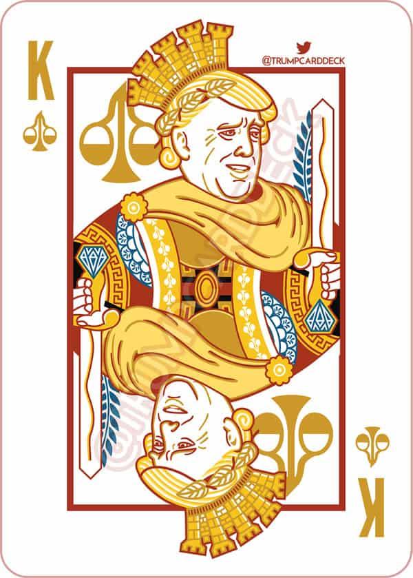 Donald Trump playing card as Julius Caesar
