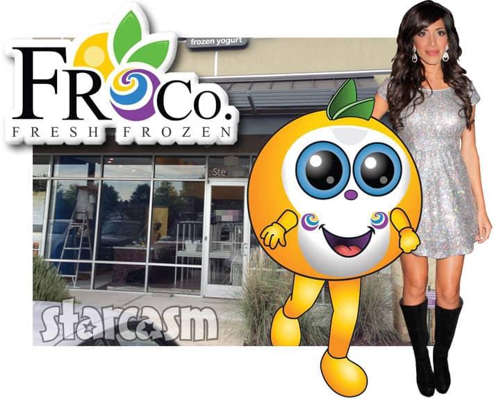 Farrah Abraham Froco frozen yogurt restaurant